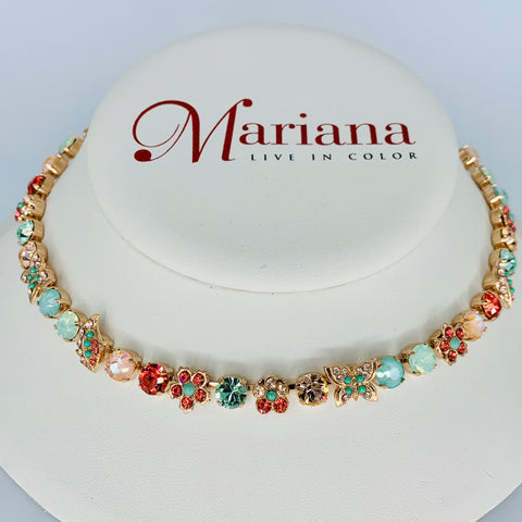 Mariana Butterfly Garden Necklace Australian Monarch on Rose Gold