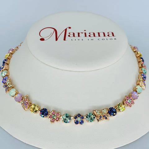 Mariana Butterfly Garden Necklace Travelara on Rose Gold