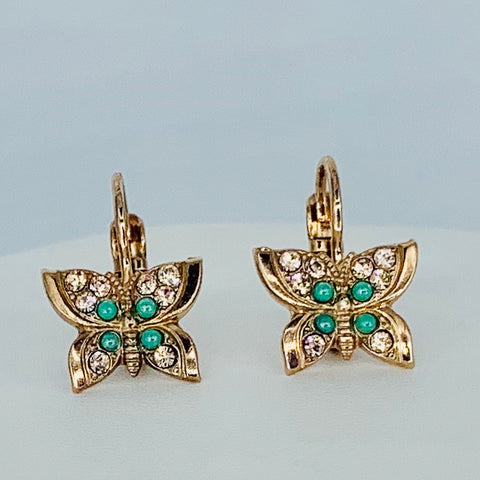 Mariana Butterfly Earring in Australian Monarch on Rose Gold