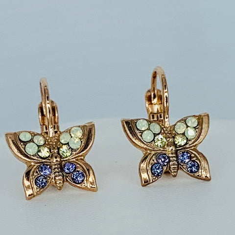 Copy of Mariana Butterfly Earring in Travelara on Rose Gold