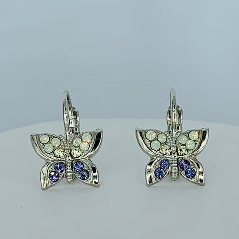 Mariana Butterfly Earring in Travelara on Rhodium