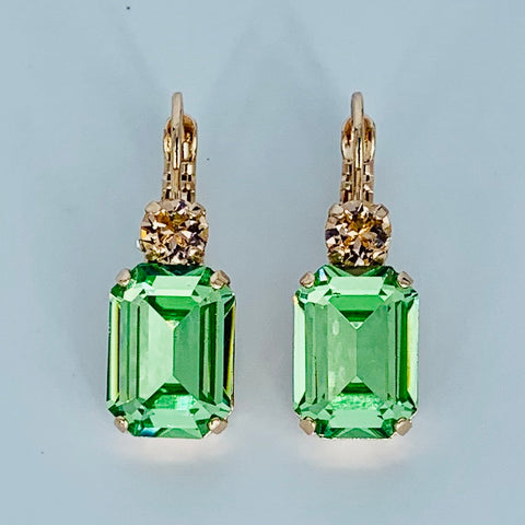 Mariana Earring Emerald Cut Monarch on Rose Gold