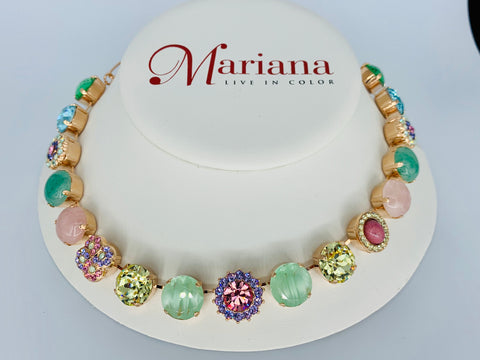 Mariana Large Necklace inTravelara on Rose Gold