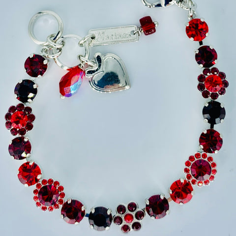 Mariana Small Bracelet Lady in Red on Rhodium