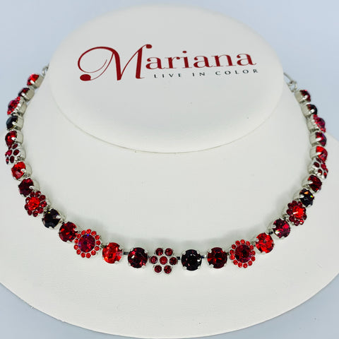 Mariana Medium  Necklace Lady in Red on Rhodium