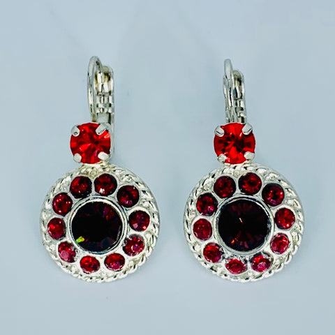 Mariana Earrings in Lady in Red on Rhodium