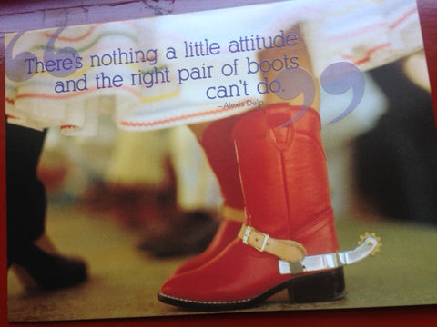 The Right Pair of Boots Encouragement Card
