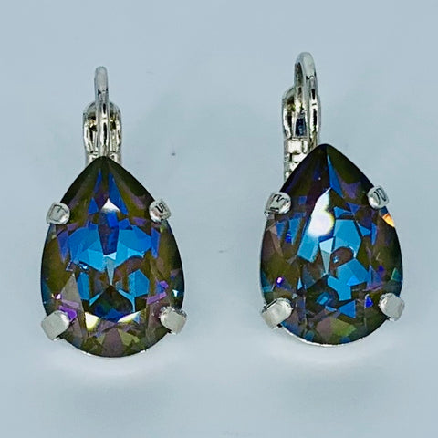 Mariana Earrings Teardrop in Midnight on Rhodium