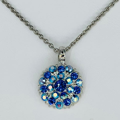 Mariana Guardian Angel Birthstone Necklace - September on Rhodium