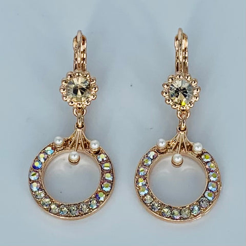 Mariana Circle Earrings in Aurora on Rose Gold