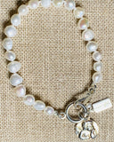 Pearl Bracelet with Silver Guardian Angel Enhancer