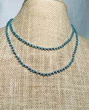 Blue Faceted Crystal Bead Necklace