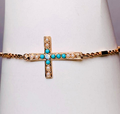 Mariana Cross Bracelet on  Rose Gold