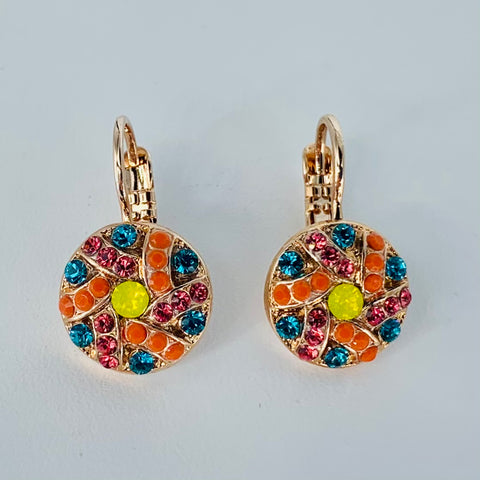 Mariana Earrings in Poppy on Rose Gold