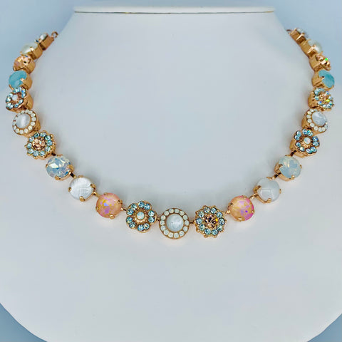 Mariana Medium Necklace in Sweet Pea on Rose Gold