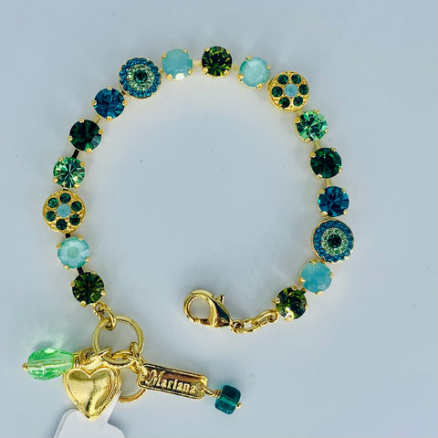 Mariana Small Bracelet in Ivy on Gold