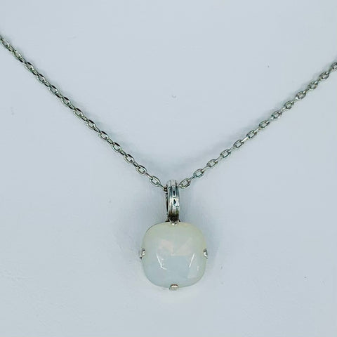 Mariana Pendant in Milky White on Silver