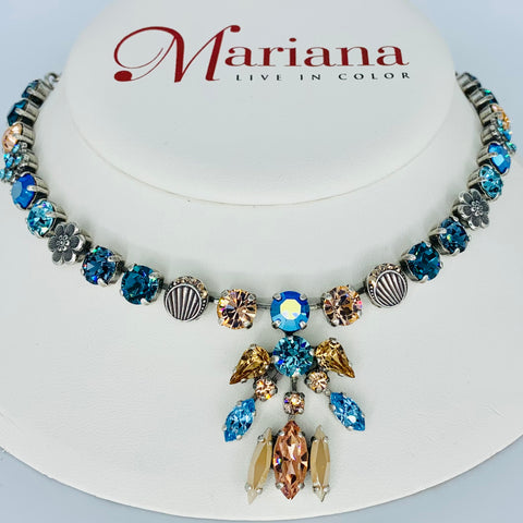 Mariana Pendant Necklace Blue Suede Shoes on Silver