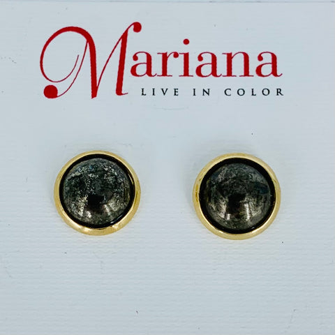 Mariana Mineral Post Earrings  on Gold