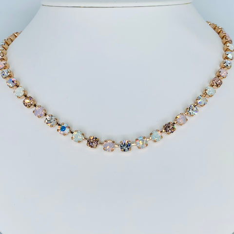 Mariana Petite Necklace in Snowflake on Rose Gold