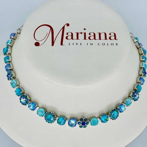 Mariana Small Necklace Tranquil on Rhodium