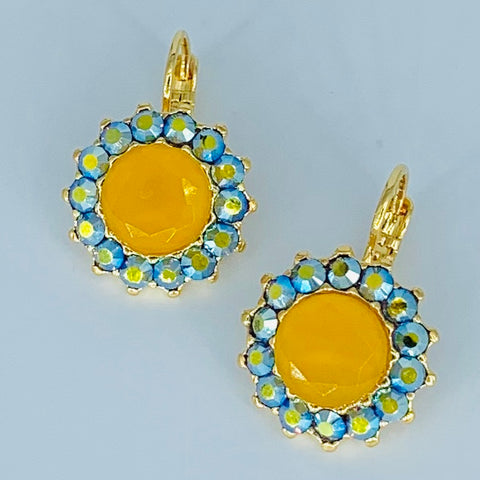 Mariana Bright Holiday Lights Earrings on Gold Large