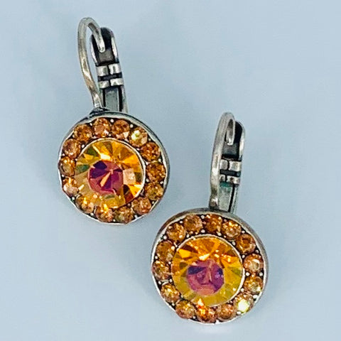 Mariana Earrings Amber on Silver