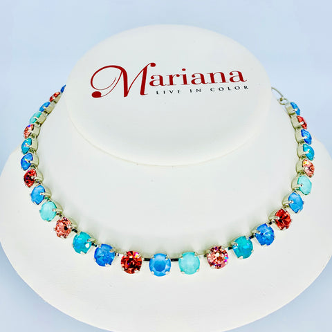 Mariana Necklace in Bird of Paradise on Rhodium