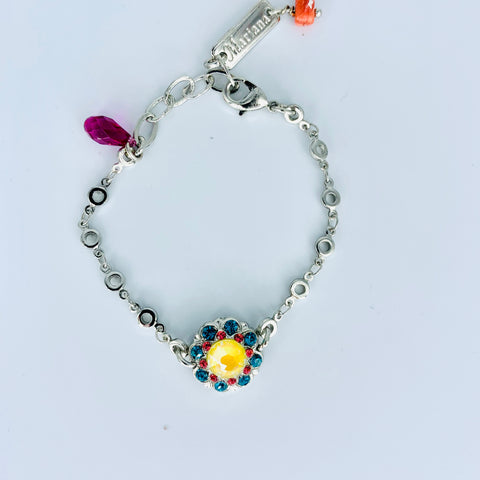 Mariana Poppy Bracelet on Rhodium