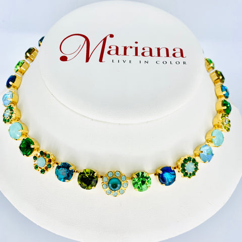 Mariana  Medium Necklace in Ivy on Yellow Gold