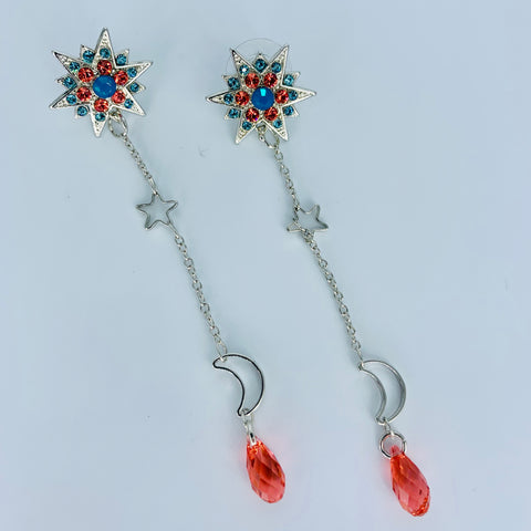 Mariana Earrings in Bird of Paradise on Rhodium