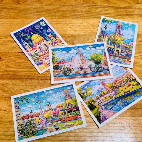 Mike Savage Art Note Cards - Plaza KCMO