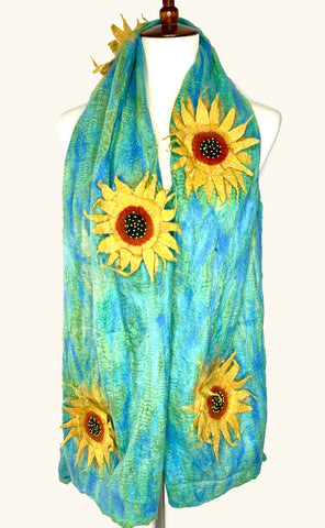 Late Summer Sunflower Scarf