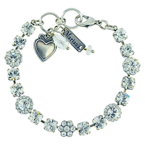 Mariana Small Bracelet in Clear on Silver