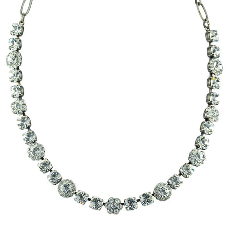 Mariana Small Necklace in Clear on Silver