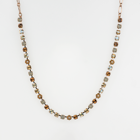 Mariana Small Necklace in Champagne and Caviar on Rose Gold