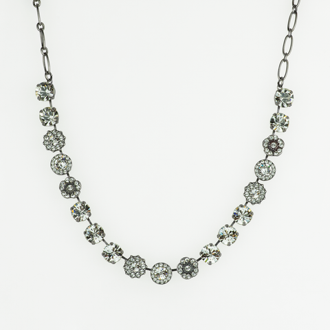 Mariana Medium  Necklace in Clear on Silver