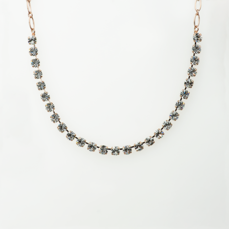 Mariana Necklace Clear on Rose Gold