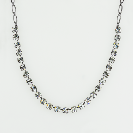 Mariana  Small Necklace Clear on Silver