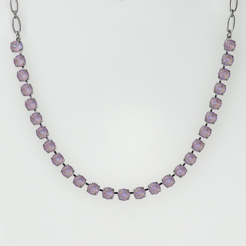 Mariana Necklace in Sun Kissed  Lavender on Rhodium