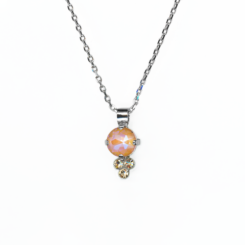 Mariana Pendant in Peach on Rhodium