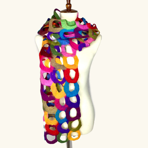 Multicolored Rings Scarf