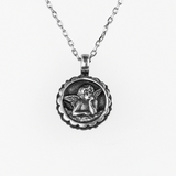 Mariana Guardian Angel Birthstone Necklace - July on Silver