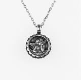 Mariana Guardian Angel Birthstone Necklace - December on Silver