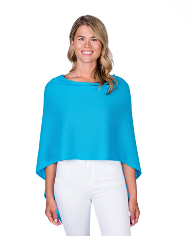 Turquoise Cotton/Cashmere Dress Topper