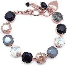 Mariana 12mm Square Black Orchid Bracelet on Rose Gold