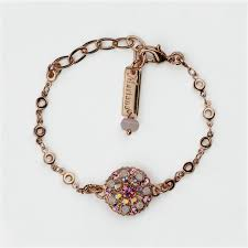 Mariana Guardian Angel Bracelet in Carnation on Rose Gold