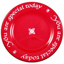 "#15- ""You Are Special Today"" Red Plate"