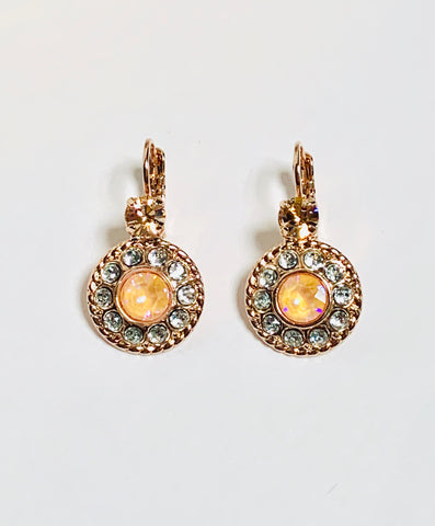 Mariana Earrings in Sweet Pea on Rose Gold