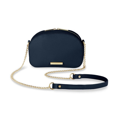 Half Moon Bag Navy/Gold